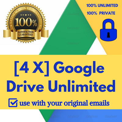 [4X] Unlimited Google Drive Storage For Liftime