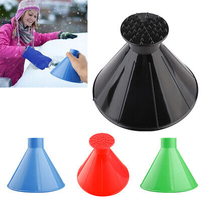 Car Windshield Ice Scraper Cone Shaped Funnel Window Ice Snow Cleaner Remover UK