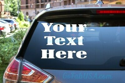 PERSONALISED TEXT MESSAGE 60x22 cm FOR CAR GLASS WALL ETC  STICKER VINYL DECAL