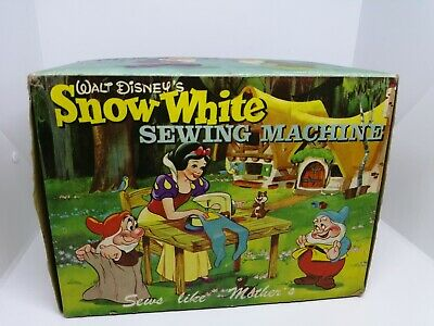 Vintage Disney Snow White Childs Sewing Machine extremely rare