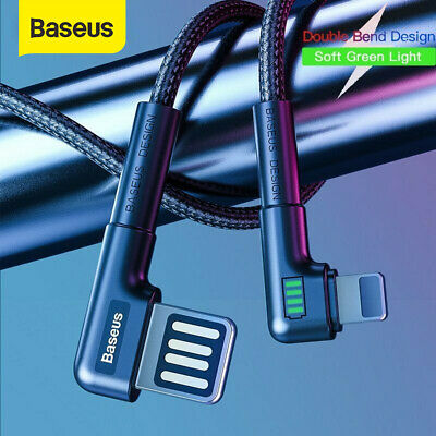 Baseus 2.4A Fast Charging Usb Lightning Charger iPhone Cable L Shape Reversible