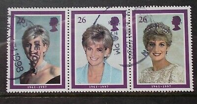 SG 2021 3Feb 1998 Se-tenant strip of 3 stamps - Diana, Princess of Wales
