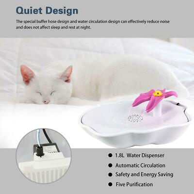LED USB Automatic Electric Pet Water Fountain Cat/Dog Drinking Dispenser