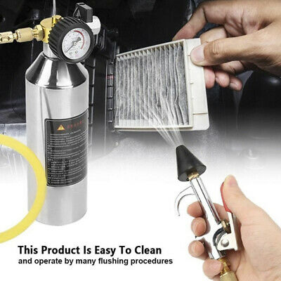 Car Air Conditioning Pipe Cleaning Bottle A/C Flush Kits For Clean Gun Tool   pv
