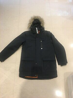 Next Padded Navy Parka Coat Fur Trim BN  Age 13