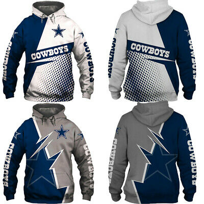 Dallas Cowboys Hoodie Football Hooded Sweatshirt Sports Jacket Gift for Fans