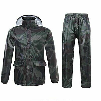 Chaqueta impermeable para hombre o mujer con capucha, (X-Large|Army Green)