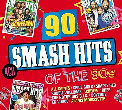 90 SMASH HITS OF THE 90's 4 CD - Various Artists (Released 2018)