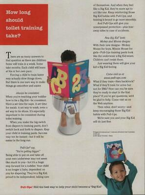 1997 Huggies Pull-Ups Diapers Vintage Print Ad Page Little Boy Toilet Training