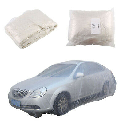 Car Cover Waterproof Disposable Transparent Plastic Dustproof Cover Universal