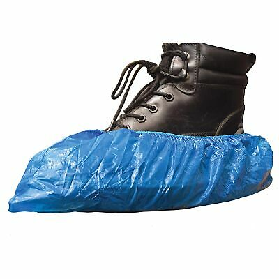 100//200//500pcs Disposable Plastic Shoe Covers Overshoes 2g Embossed Hot UK