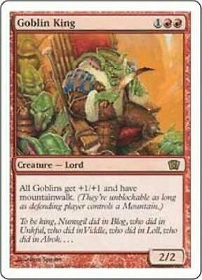1 PLAYED Goblin King Red Eighth 8th Edition Mtg Magic Rare 1x x1