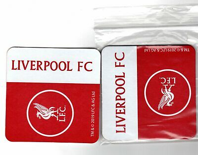 LIVERPOOL FC Pack of Beer Mats / Coasters Official Crest FREE POST UK HEAVY DUTY