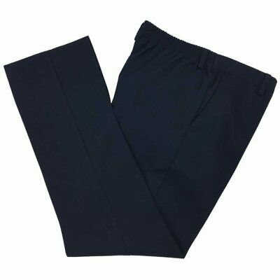NEW BOYS EX BHS NAVY BLUE ELASTICATED PULL ON SCHOOL TROUSERS Age 6-11 NT16
