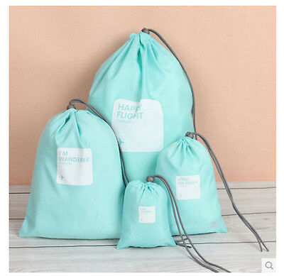 4PC Waterproof Travel Storage Bag Container Shoes Bag Clothing Case Cover Pouch