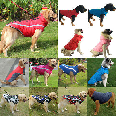 Waterproof Pet Dog Coat Winter Warm Puppy Dog Padded Vest Jacket Clothes Apparel