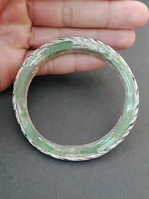 Ancient Islamic Glass Bracelet Excavated Byzantine Roman Medieval Beautiful Rare
