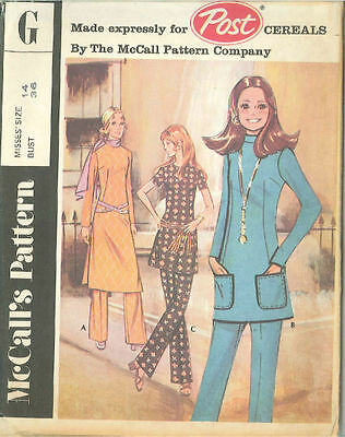 Vintage Top in three Versions & Pants Sewing Pattern Size 14