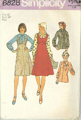 Vintage Jumper, Blouse & Scarf Sewing Pattern S6528 Size 12