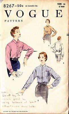 Vintage Blouse Sewing Pattern 8267 Size Unknown