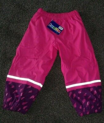 Girls Pink/Multi  Waterproof Trousers Age 2/3/4 Years Lupilu New