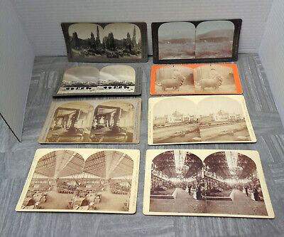 7 Vintage Late 19th/Early 20th Century Stereoscope Cards LOT! Cathedral Spires!