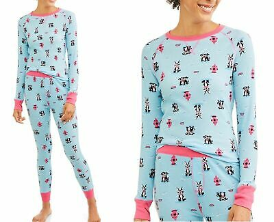 Toast & Jammies Women's Thermal long sleeve Top & Pant Pajama Boxer Dog Small