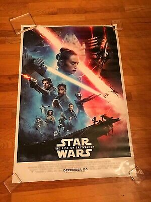 STAR WARS THE RISE OF SKYWALKER original double sided movie poster 27 x 40