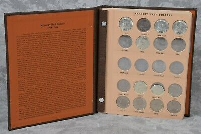 Book of 82 Kennedy USA Half Dollar Coins 1964-1999 Silver Clad & Proofs Dansco