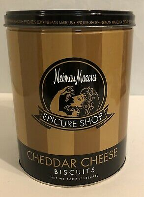 "7 1/2 "" Neiman Marcus Epicure Shop Tin- Brown& Gold Colors"