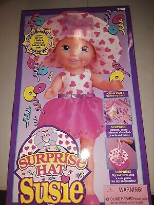 Vintage 1994 Tyco Surprise Hat Susie Doll, new in orginal box and instructions