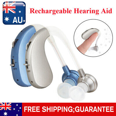 Rechargeable Digital Invisible Hearing Aid Severe Loss BTE Ear Aids HighPower AU