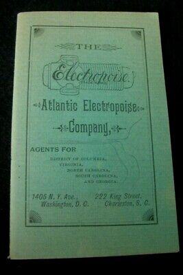 1890s Quack Medicine Electropoise Electric Shock Pocket Device Advertising Book