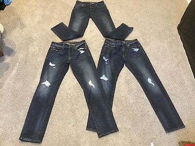 American Eagle Extreme Flex Slim Straight 3 Pair Of Jeans Size 30/32
