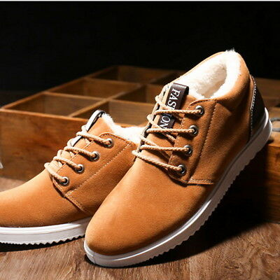 2019 Mens Warm Ankle Boots Winter Boots Fashion Winter Snow Shoes Walking K
