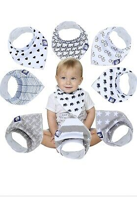 Organic Baby Bandana Drool Bibs for Drooling and Teething 100% Soft Cotton