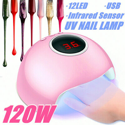 Nail Lamp 120W LED UV Light Gel Polish Nail Dryer Manicure Art Curing Machine !