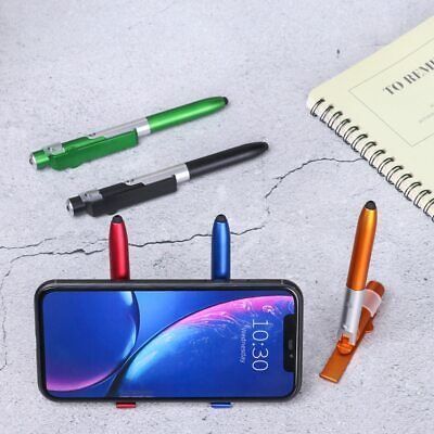 Ballpoint Pen Folding led Light Mobile Phone Stand Holder 4 in1 Stylus Pens