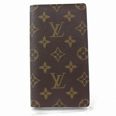Authentic Louis Vuitton Diary Cover Agenda Poche Browns Monogram 1104524