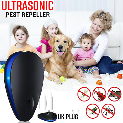 Ultrasonic Pest Repeller UK Plug Electronic Repellent Mouse Spider Mosquito Ants