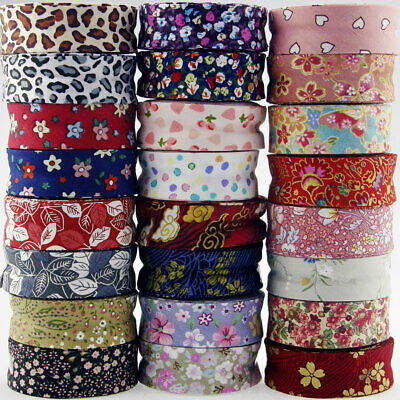 Floral Bias Binding Cotton Patterned Tape 1 Inch 25mm Trimming/Edging/Quilting