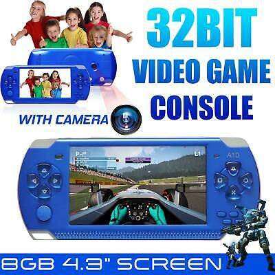 4.3'' PSP Portable Handheld Video Game 8GB Console Built-in 10000+Games w/Camera