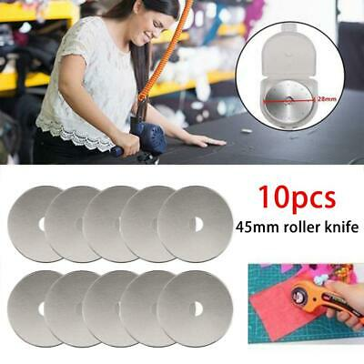 10pcs Rotary Cutter Blades Quilters Sewing Patchwork Fabric Spare Blade 45mm
