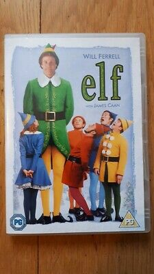 Elf Starring Will ferrell & james Caan (DVD) disc in mint condition