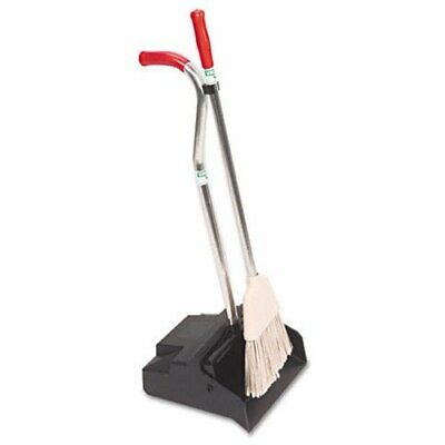 Unger Ergo Dustpan [with Broom] - Aluminum Handle - Black, Silver, Redhandle