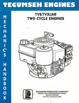 Tecumseh Tvs/Tvxl840 2-Cyl. Engine Shop  Manual
