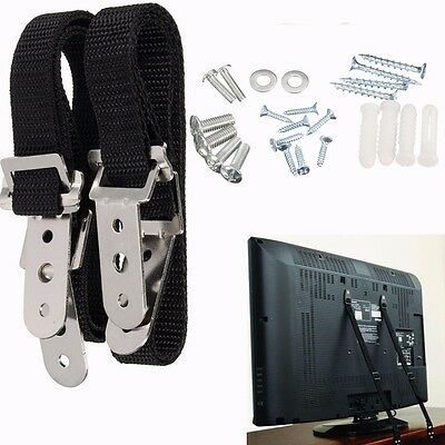 2Pcs Anti Tip Secure TV Furniture Fix Safety Anchor Straps Baby Child