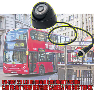 Wired Car Reversing Camera Kit Front View AHD Night Vision 25 LED CCD Camera UK