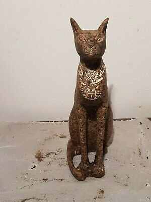 Rare Antique Ancient Egyptian Statue God Bastet Horus Protection 1820-1740BC