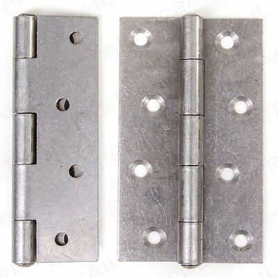 """4 x NARROW 5"""" BUTT HINGES Large Strong Heavy Duty Gate/Shed/Door Frame Hang Set"""